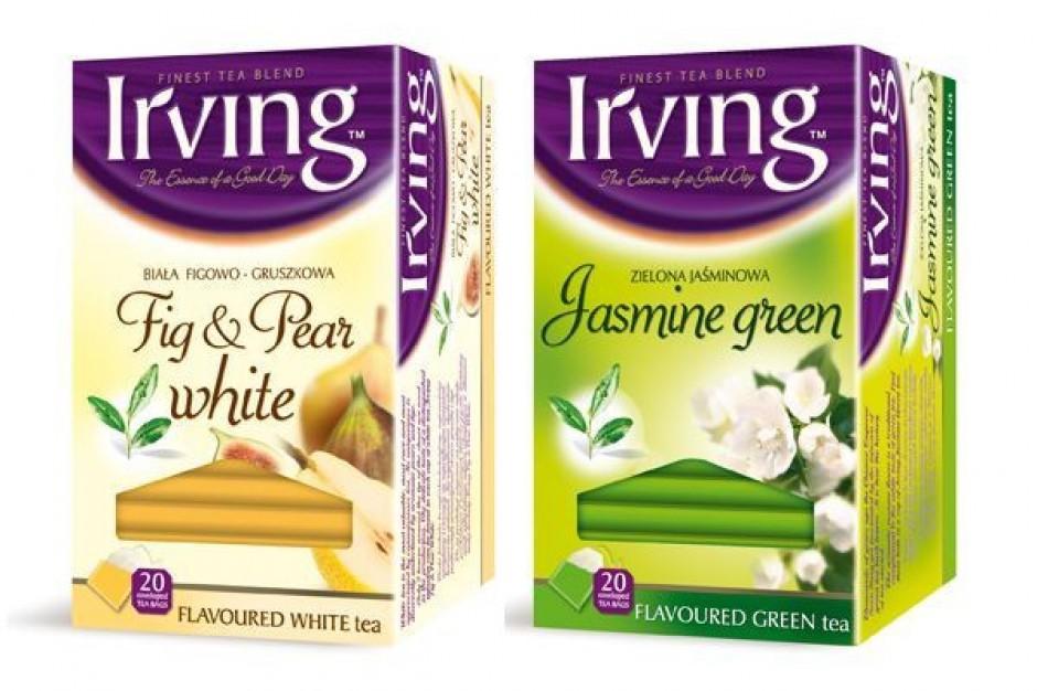 Nowe linie białych i zielonych herbat Irving