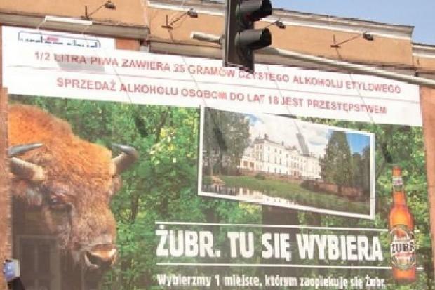 Piwo Żubr będzie się reklamować na pociągach PKP