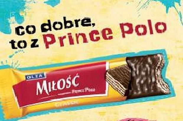 Prince Polo reklamuje się na banerach