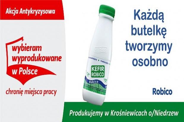 Kefir Robico promowany w kampanii billbordowej