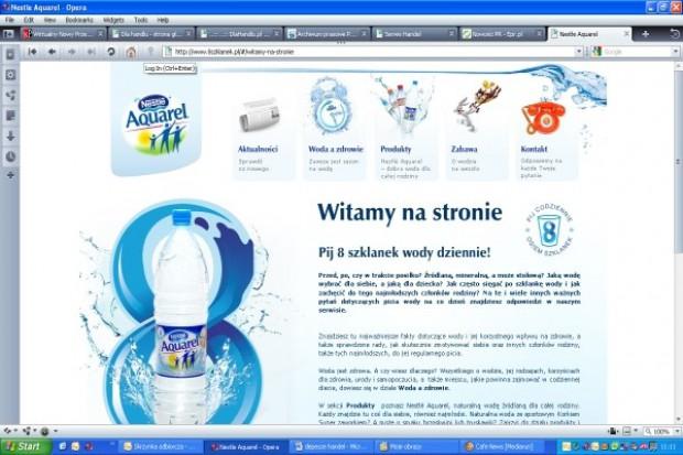 Nowy serwis wody Nestle Aquarel
