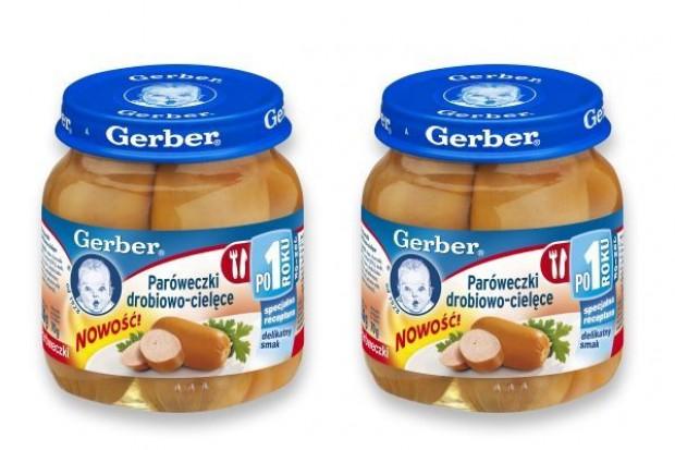 Gerber przygotował paróweczki dla małych dzieci