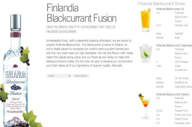 To jasne jak czarna porzeczka - reklama Finlandii w sklepach