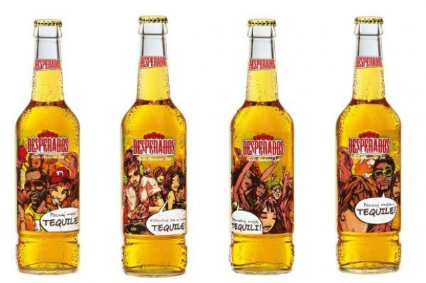 Piwo Desperados reklamuje się na outdoorze