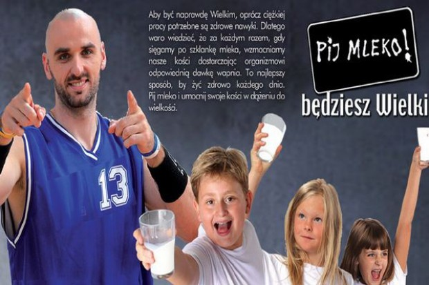 Marcin Gortat w reklamie mleka
