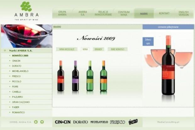 Ambra sprzedała mniej wina w sieciach dyskontowych