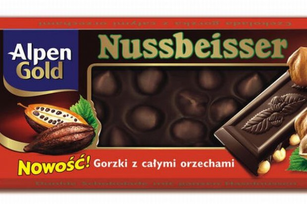Kraft promuje czekoladę Alpen Gold Nussbeisser