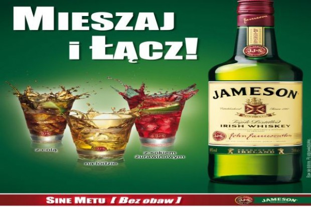 Whiskey Jameson promuje się na imprezach on-trade