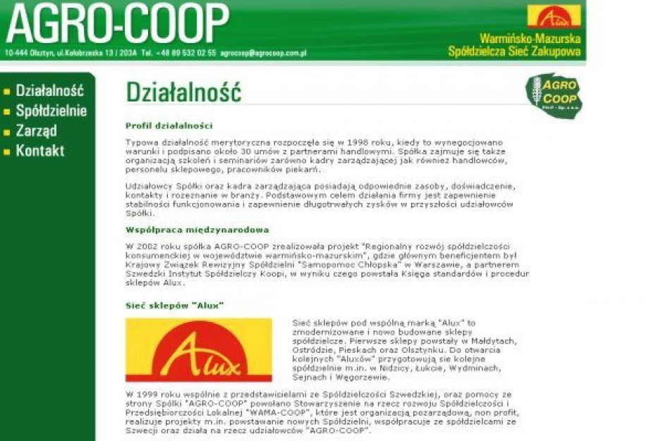 Agroo-Coop: będziemy powiększać powierzchnię sprzedaży