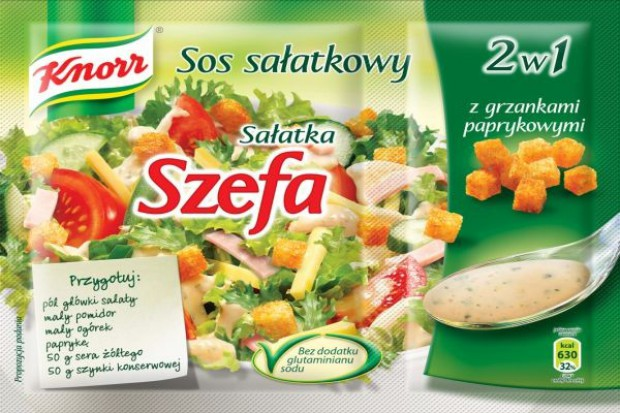 Sosy sałatkowe Knorra z grzankami zestawy 2w1