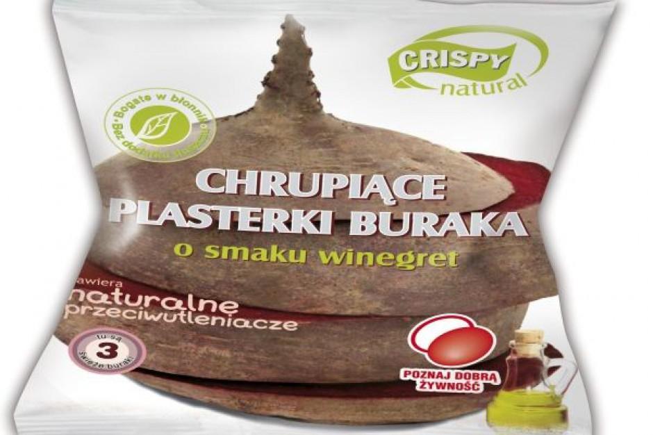 Chrupiące plasterki buraka o smaku winegret od Crispy