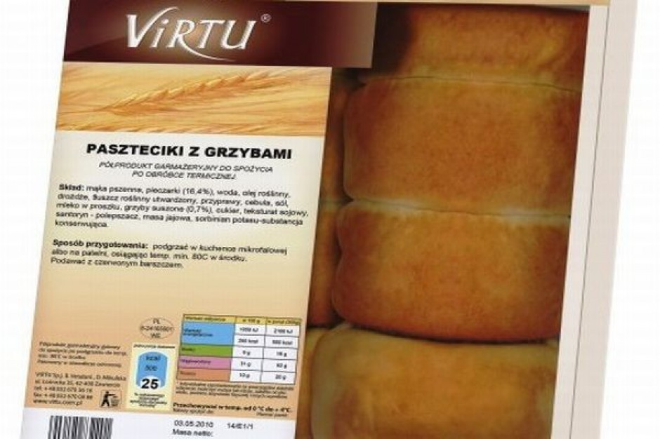 Paszteciki z grzybami Virtu