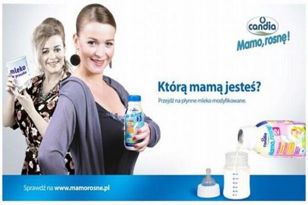 Candia przekonuje mamy do modyfikowanego mleka