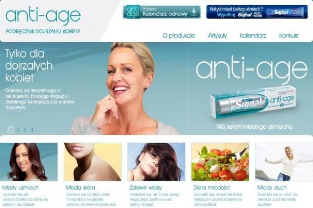 Serwis pasty Signal anti-age jest dedykowany dojrzałym kobietom