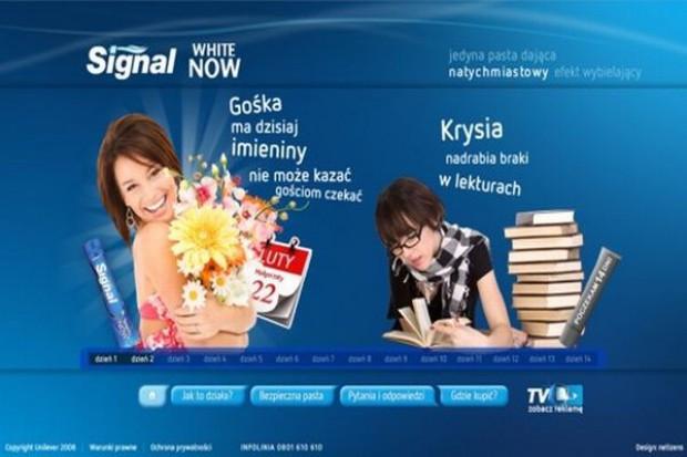 Signal promuje nowy produkt w internecie