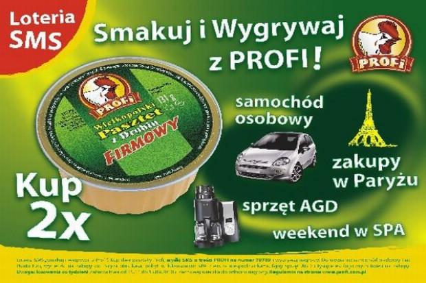 Sms-owa loteria promuje produkty Profi