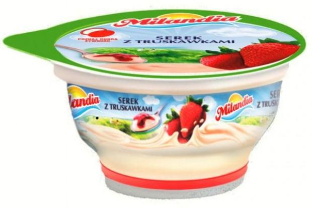 Serek Milandia z truskawkami