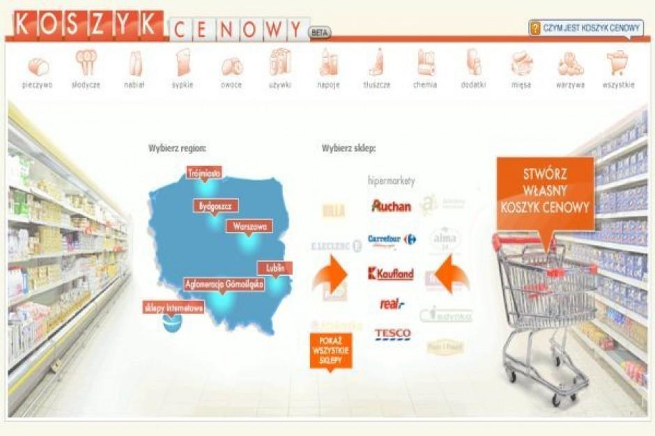 Koszyk cen dlahandlu.pl: Historyczne minima cen w hipermarketach
