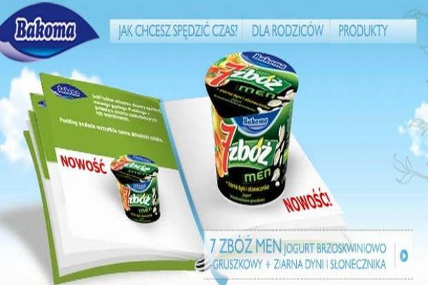 Bakoma 7 Zbóż Men reklamuje jogurt dla mężczyzn