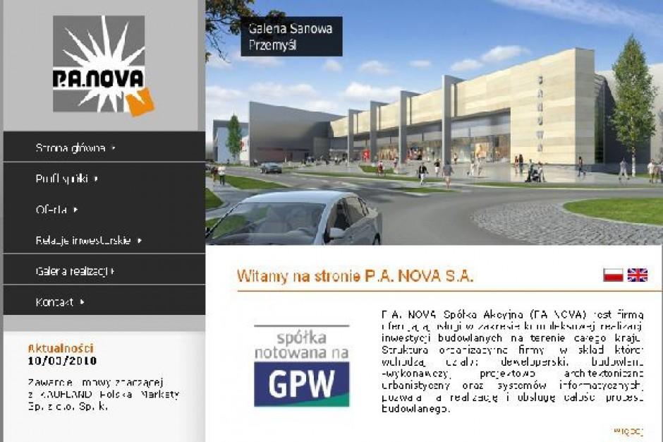 Do 2012 roku PA Nova zainwestuje w obiekty handlowe 800 mln zł