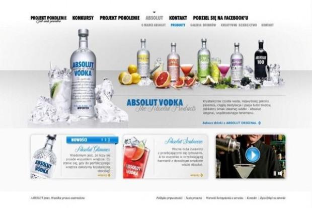 Nowe funkcjonalności na stronie internetowej marki Absolut