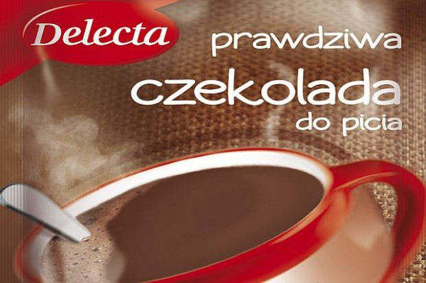 Delecta reklamuje na stokach czekoladę do picia