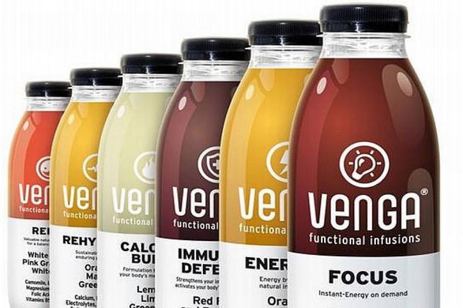 Napoje Venga w sprzedaży