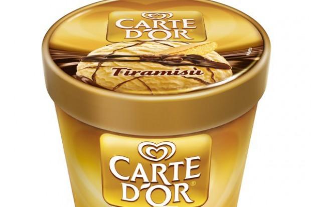 Nowe opakowania lodów Carte d'Or