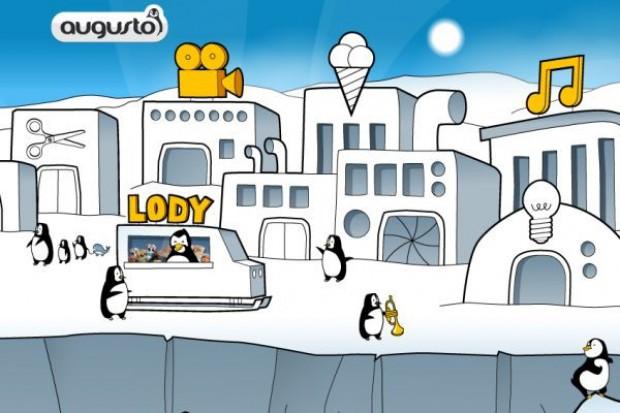 Pingwiny reklamują lody Augusto