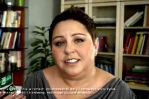 Dorota Wellman reklamuje jogurty Activia
