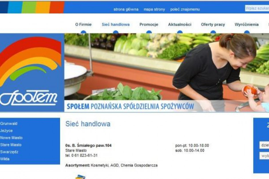 Społem Poznań chce rozwijać sieć sklepów ze zdrową żywnością