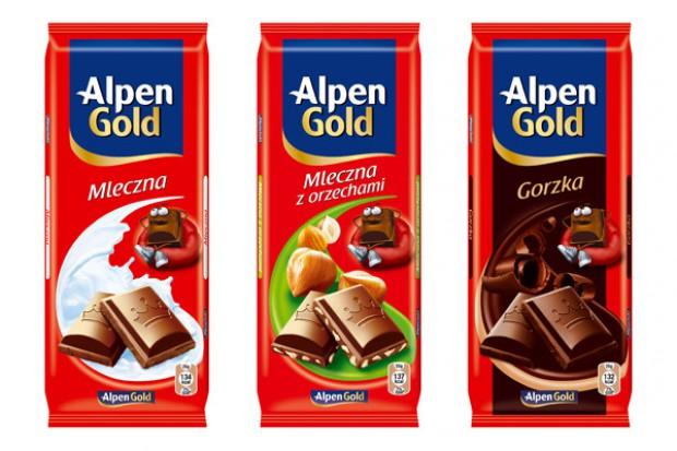 Czekolady Alpen Gold w nowych opakowaniach