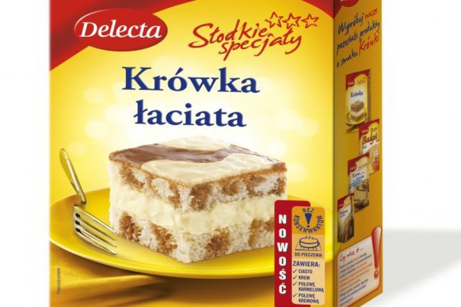Krówka łaciata - nowe ciasto od Delecty
