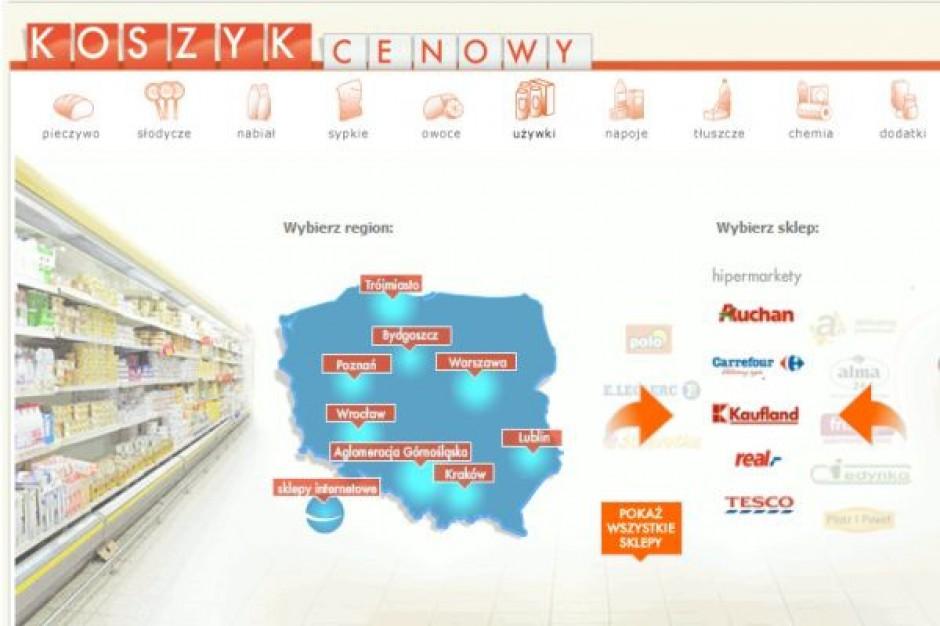 Koszyk cen dlahandlu.pl: Zróżnicowane ceny pomiędzy lokalizacjami supermarketów i sieci convenience