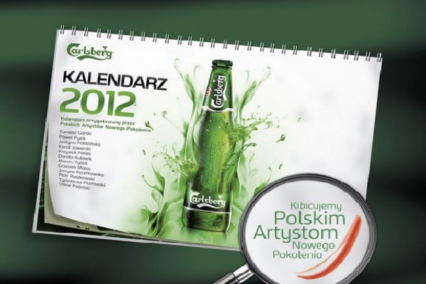 Kalendarz dodatkiem do dziesięciopaku Carlsberga