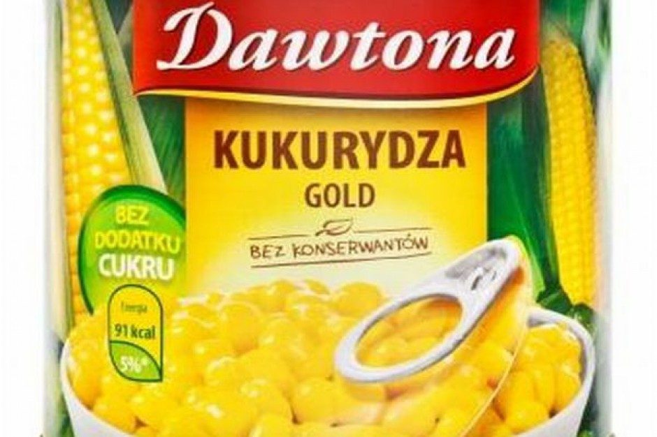 Kukurydza Gold w puszce od Dawtony