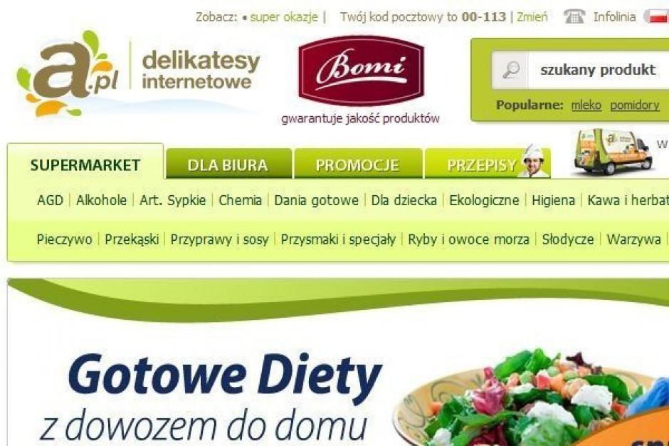 Delikatesy internetowe A.pl powiększyły zasięg dostaw na całą Polskę