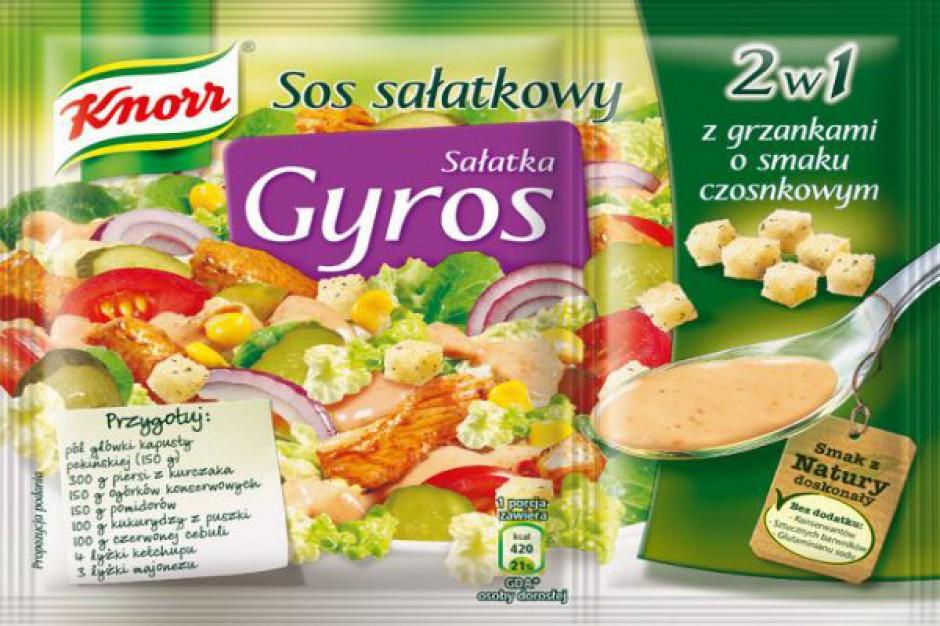 Sałatka Gyros 2w1 od Knorra
