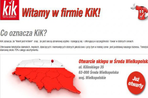 KiK chce mieć 100 sklepów w Polsce