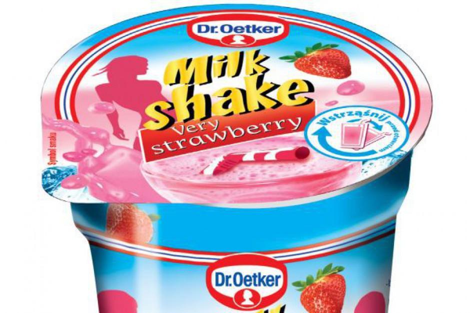 Milk shake i sos waniliowy Dr. Oetker