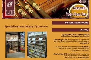 31-proc. wzrost przychodów Smoke Shop