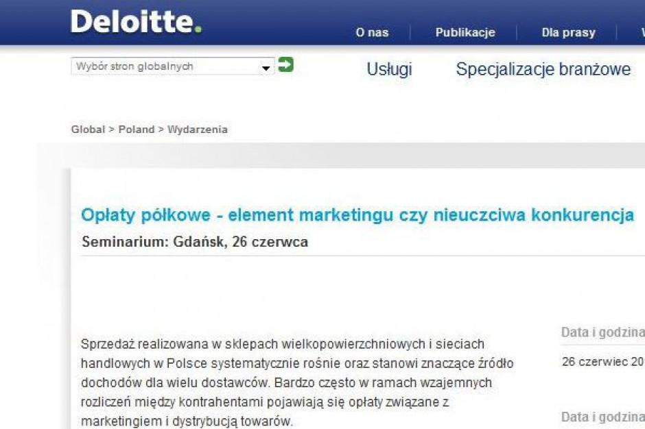 Deloitte wyjaśnia zasady kwalifikacji opłat półkowych