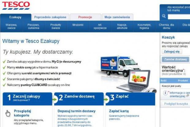 Tesco rusza ze sklepem internetowym, promocyjna cena dostawy to 98 groszy