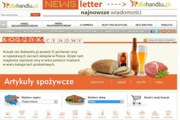 Koszyk cen dlahandlu.pl: Tesco dołącza do badanych e-sklepów
