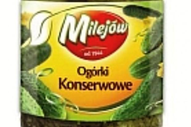 Ogórki konserwowe marki Milejów