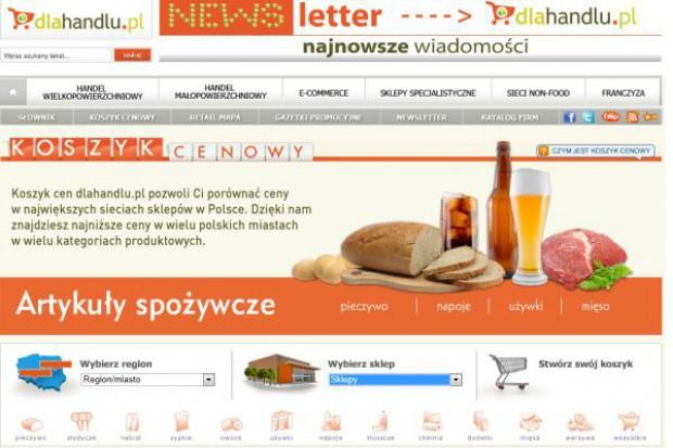 Koszyk cen dlahandlu.pl: W supermarketach taniej niż miesiąc temu, ale drożej niż w 2011 roku