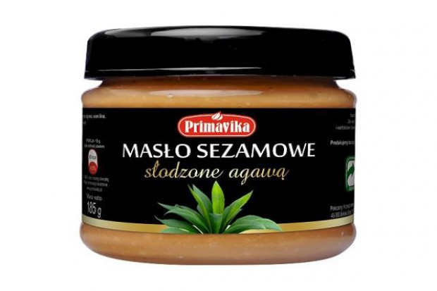 Masło sezamowe słodzone agawą w ofercie Primaviki