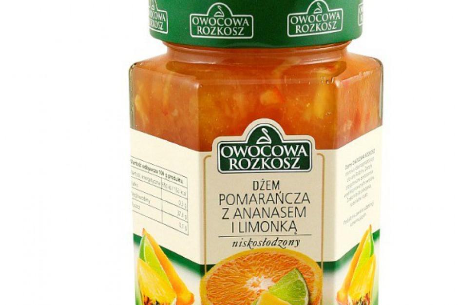 Dżem niskosłodzony pomarańcza z ananasem i limonką