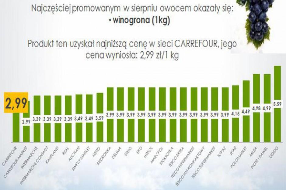 Analiza gazetek: Winogrona - najczęściej promowane owoce w sierpniu