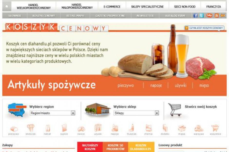 Koszyk cen dlahandlu: Duża rozpiętość cen warzyw i owoców w e-sklepach